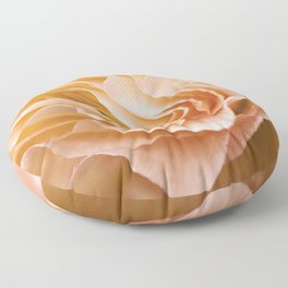 Frosting Apricot Begonia Floor Pillow