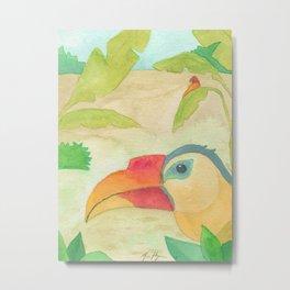 Wrinkled Hornbill Metal Print