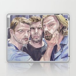 Team Free Will 2.: Misha Collins; Jared Padalecki and Jensen Ackles, watercolor painting Laptop & iPad Skin