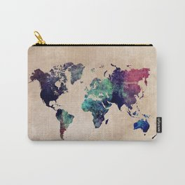 Cold World Map #map #worldmap Carry-All Pouch