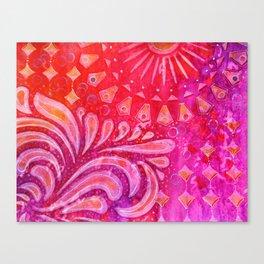 Joy in Orange and Purple Canvas Print