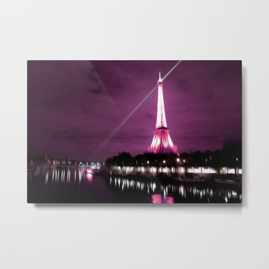 Paris in oil Metal Print