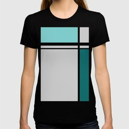 Cross Lines in turquoises T-shirt
