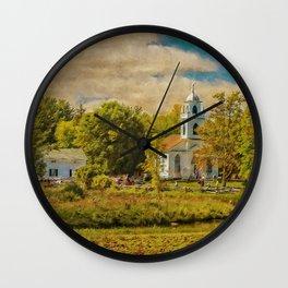 Little Country Church Wall Clock