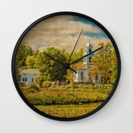 Little Country Church Wall Clock