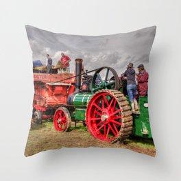 Steam Threshing Throw Pillow