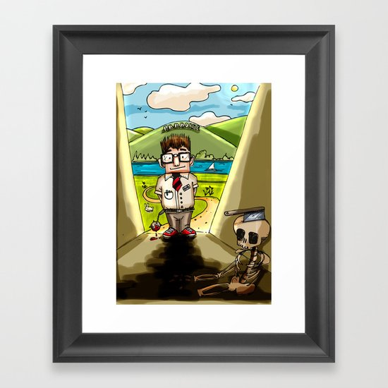 Enemy at the (Bill) Gates Framed Art Print