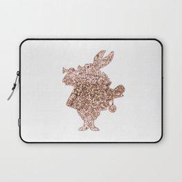 Sparkling rose gold Mr Rabbit Laptop Sleeve