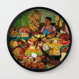 Las vendedoras de frutas by O. Costa Wall Clock