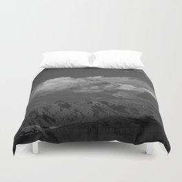 Virgin Mountains - B & W Duvet Cover