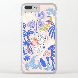 Rainforest Leopard Clear iPhone Case