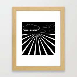 Dark Sky on the Horizon Framed Art Print