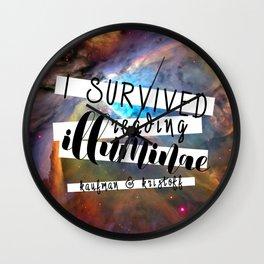 I Survived Illuminae Wall Clock