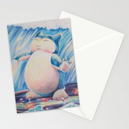 Snorlax Used Surf Stationery Cards