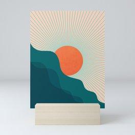 Abstraction_NEW_SUNLIGHT_MOUNTAINS_SHINE_POP_ART_M1209A Mini Art Print