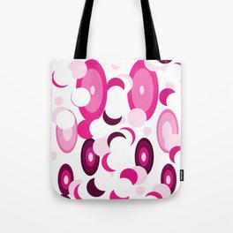 pink purple planets and moons Tote Bag