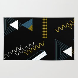 Geometric shapes artistic composition Rug