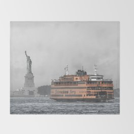 Liberty & The Boat Throw Blanket