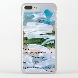 La montagna Incantata - Watercolor Clear iPhone Case