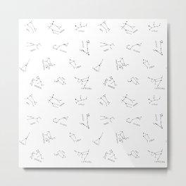 Simple Constellations Metal Print