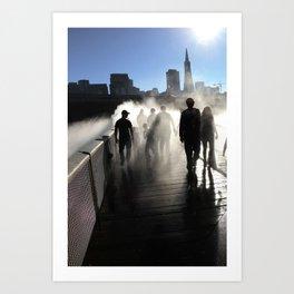 Strangers in SF Art Print