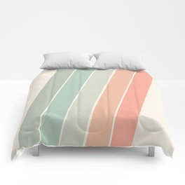 Trippin' - retro 70s socal minimal striped abstract art california surfing vintage Comforters