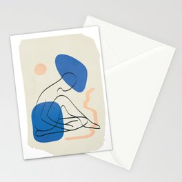 Blue Form II Stationery Cards