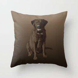 Chocolate Labrador Retriever Brown Dog Throw Pillow
