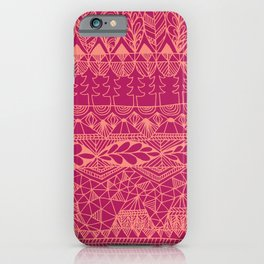 Mountain Tapestry in Sunset Pink iPhone Case
