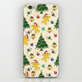 Christmas bear,bells and tree SB3 iPhone Skin