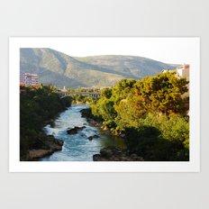 Carinski Bridge, Mostar Art Print