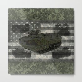 Amphibious Armored Vehicle Metal Print