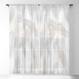 Feather Dream Pattern #3 #boho #decor #art #society6 Sheer Curtain