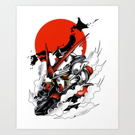 ASTRAY RED FRAME BUST F-12 Art Print