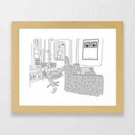 Chris at Home Framed Art Print