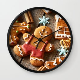Gingerbread Cookies Wall Clock
