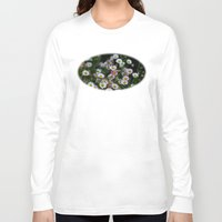 daisies Long Sleeve T-shirts featuring Daisies by Wealie