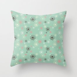 Poised Posies by Deirdre J Designs Throw Pillow