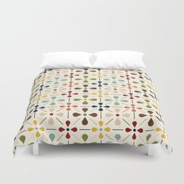 Vintage Daisy Pattern, Mid Century Modern Bettbezug
