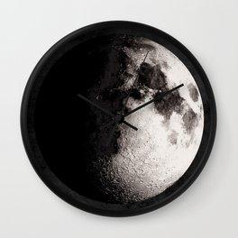 Gibbous Moon Poster, Moon Art Print, Square Moon Print, Wall Art, Home Decor, Luna Poster, Moon Print, Lunar Moon Print, Luna Moon, Waxing Gibbous Moon, Black and White, Gibbous Moon Art Print, Moon Phase Wall Clock