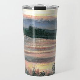 Summer Sunset at Baker Wetlands Painting Travel Mug