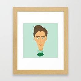 GREEN LADY Framed Art Print