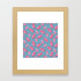 Matryoshka Blue Framed Art Print
