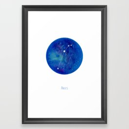 Constellation Aries Framed Art Print