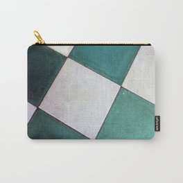 Teal Tiles Carry-All Pouch