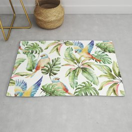 Summer pattern with tropical birds Rug