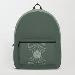 Handdrawn Geometric Lines in Forest Green 2 Backpack