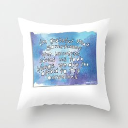 Glimmer of Gladness from Wendy Natter! Throw Pillow