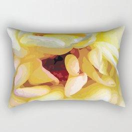 Close up of a Rose Rectangular Pillow