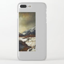 Wild Winter Valley Clear iPhone Case